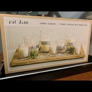 Rae Dunn Candle Garden Glass Votive Holders